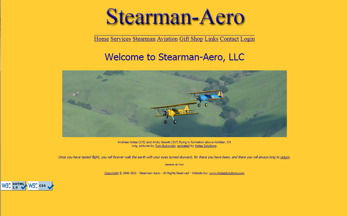 Screenshot Stearman-Aero, LLC